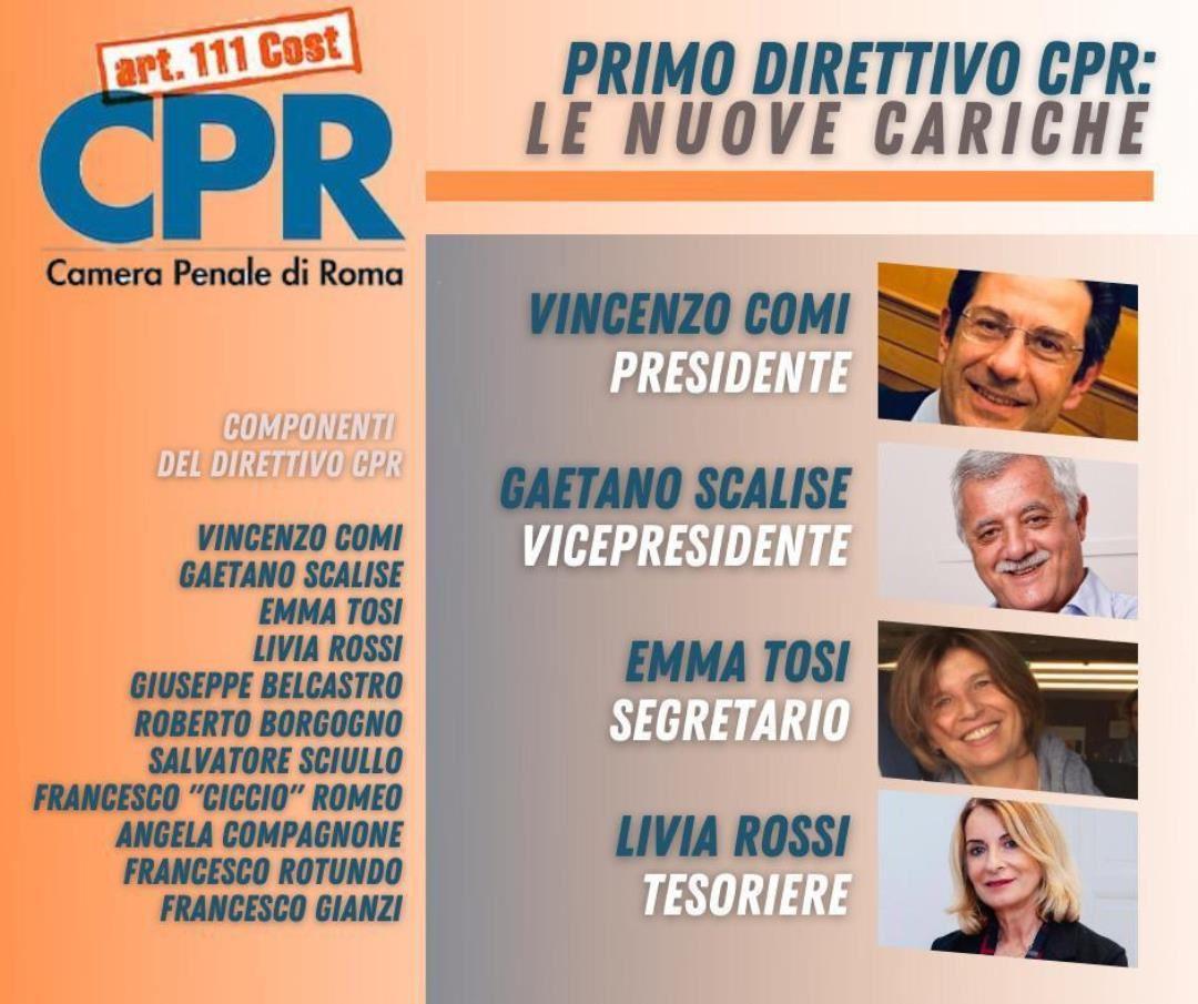 L'Avvocata e Socia ADGI Sezione di Roma Emma Tosi eletta nel nuovo Direttivo della Camera Penale di Roma